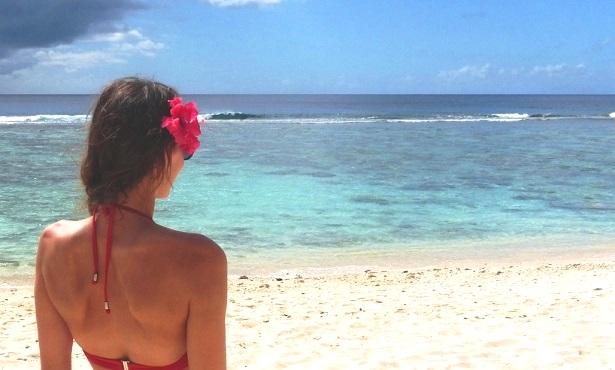 Frau Blume Haar Cookinseln (c) Anja Knorr