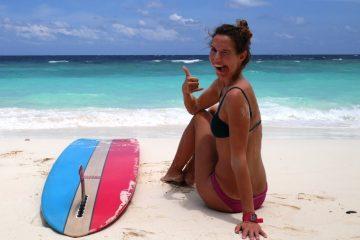 Malediven Surfer